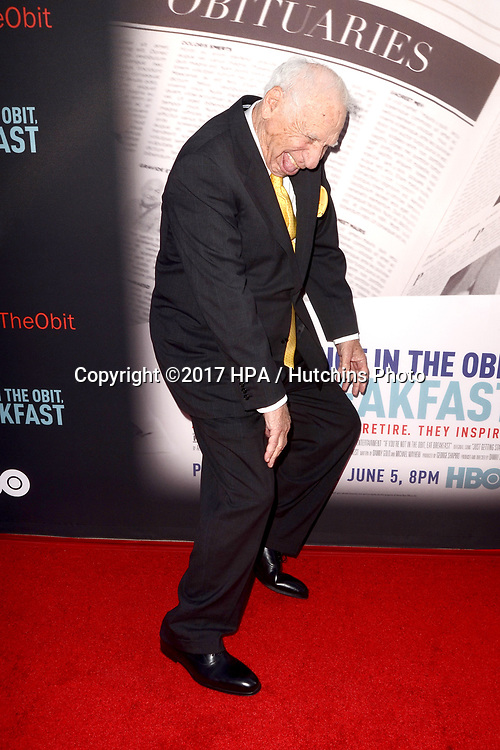 """LOS ANGELES - MAY 17:  Mel Brooks at the """"If You're Not In The Obit, Eat Breakfast"""" Premiere at the Samuel Goldwyn Theater on May 17, 2017 in Beverly Hills, CA"""
