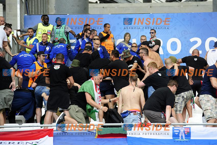 Tifosi Ungheria invadono settore Fans Hungary <br /> Marseille 18-06-2016 Stade Velodrome Football Euro2016 Iceland - Hungary / Islanda - Ungheria Group Stage Group F. Foto Franck Pennant / Panoramic / Insidefoto