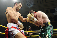 Yassin El Maachi defeats Peter McDonagh in Quarter-Final 4 of Prizefighter The Welterweights II at York Hall, promoted by Matchroom Sports - 07/06/11 - MANDATORY CREDIT: Gavin Ellis/TGSPHOTO - Self billing applies where appropriate - Tel: 0845 094 6026