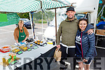 Meave and Chris Johnston from Kilflynn at the Farmers Market stall of Barbara Eames on Saturday morning.