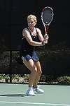 SAN DIEGO, CA - APRIL 24: Alisa Spitzer of the Saint Marys Gaels during the WCC Tennis Championships at the Barnes Tennis Center on April 24, 2010 in San Diego, California.