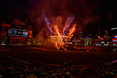 Fireworks display at Comerica Park in Detroit, Michigan after the Washington Nationals against the Detroit Tigers game on Friday, June 28, 2018.  The Nationals won the game 3 - 1.<br /> Credit: Ron Sachs / CNP