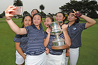 Auckland players pose for a selfie, 2019 New Zealand Women's Interprovincials, Maraenui Golf Club, Hawke's Bay, New Zealand, Saturday 06th December, 2019. Photo: Kerry Marshall/www.bwmedia.co.nz