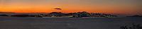 St Thomas Dusk<br /> U.S. Virgin Islands<br /> Panoramic