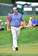 Bethesda, MD - July 2, 2017: Bill Haas sinks a 10 foot putt on hole seventeen during final round of professional play at the Quicken Loans National Tournament at TPC Potomac at Avenel Farm in Bethesda, MD.  (Photo by Phillip Peters/Media Images International)