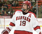 Alex Killorn (Harvard - 19) - The Harvard University Crimson defeated the visiting Clarkson University Golden Knights 3-2 on Harvard's senior night on Saturday, February 25, 2012, at Bright Hockey Center in Cambridge, Massachusetts.