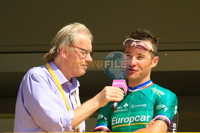 Team Europcar rider and local boy Thomas Voeckler (FRA) at the sign on in Fromentine before the start of the 1st stage form Passage du Gois to Mont des Alouettes of the 2011 Tour de France, 2nd July 2011 (Photo by Eoin Clarke/NEWSFILE)