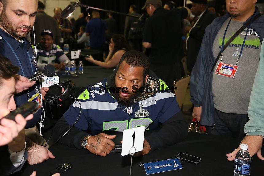 DE Michael Bennett (Seahawks)- Super Bowl XLIX Seattle Seahakws Team-PK, Arizona Grand Hotel