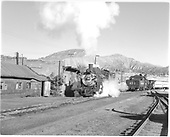 D&amp;RGW #484 in Durango yard.  #473 is perhaps making up excursion train.  Looking north.<br /> D&amp;RGW  Durango, CO