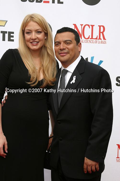 Carlos Mencia & Wife Amy.ALMA Awards 2007.Pasadena Civic Auditorium.Pasadena, CA.June 1, 2007.©2007 Kathy Hutchins / Hutchins Photo....