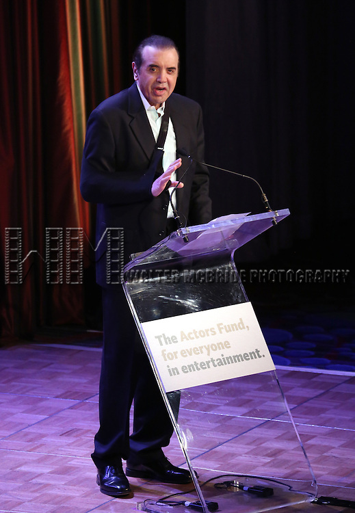 Chazz Palminteri  during the presentation of the 2013 Actors Fund Annual Gala honoring Robert De Niro at the Mariott Marquis Hotel in New York on 4/29/2013...