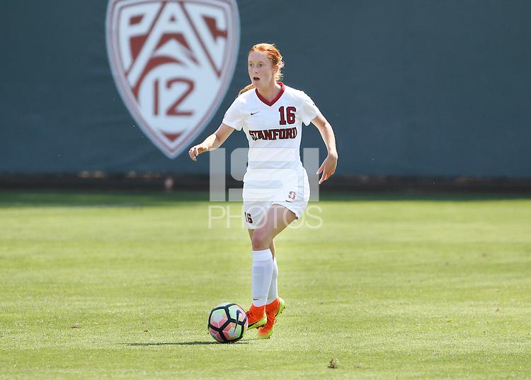STANFORD, CA; September 11, 2016; Women's Soccer, Stanford vs Notre Dame.
