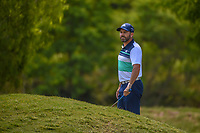 Sergio Garcia (ESP) looks over his chip shot on 2 during Round 1 of the Zurich Classic of New Orl, TPC Louisiana, Avondale, Louisiana, USA. 4/26/2018.<br /> Picture: Golffile | Ken Murray<br /> <br /> <br /> All photo usage must carry mandatory copyright credit (&copy; Golffile | Ken Murray)
