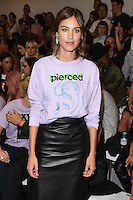 Alexa Chung<br /> at the Ashley Williams catwalk show as part of London Fashion Week SS17, Brewer Street Carpark, Soho London<br /> <br /> <br /> &copy;Ash Knotek  D3155  16/09/2016