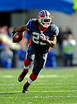 2 November 2008:  Buffalo Bills' running back Marshawn Lynch gains 42 yards in a pass-rush play in the first quarter against the New York Jets at Ralph Wilson Stadium in Orchard Park, NY. The Jets defeated the Bills 26-17 improving their record to 5 and 3 for the season...Mandatory Photo Credit: Ed Wolfstein Photo
