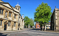 Empty streets and Town Centre of Bedford during the current lockdown in the Worldwide Covid 19 Pandemic in the UK on Sunday April 26th 2020
