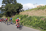 The breakaway group in action during Stage 15 of the La Vuelta 2018, running 178.2km from Ribera de Arriba to Lagos de Covadonga, Spain. 9th September 2018.               Picture: Unipublic/Photogomezsport | Cyclefile<br /> <br /> <br /> All photos usage must carry mandatory copyright credit (&copy; Cyclefile | Unipublic/Photogomezsport)