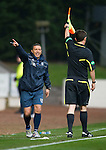 St Johnstone v Inverness Caley Thistle...15.10.11   SPL Week 11.Derek McInnes disagrees with the linesman.Picture by Graeme Hart..Copyright Perthshire Picture Agency.Tel: 01738 623350  Mobile: 07990 594431