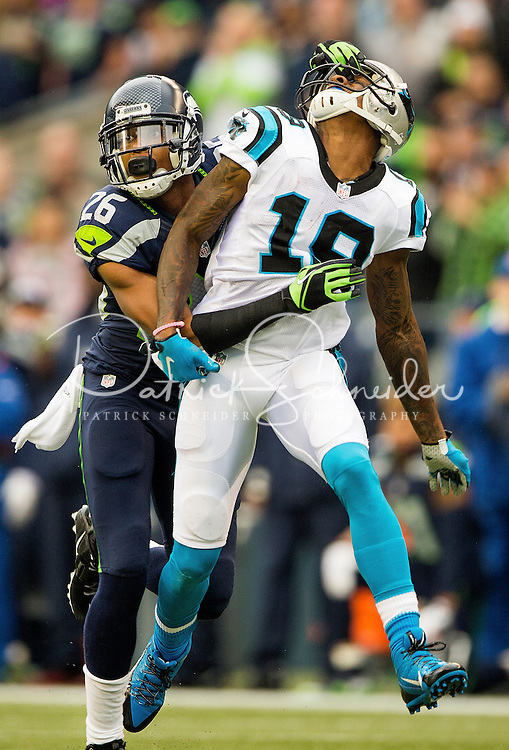 Carolina Panthers vs. the Seattle Seahawks during their NFL game Sunday afternoon October 18, 2915  at Century Field in Seattle, WA.<br /> <br /> Charlotte Photographer: PatrickSchneiderPhoto.com