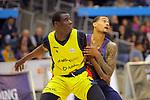 XXXVIII Lliga Nacional Catalana ACB 2017.<br /> FC Barcelona Lassa vs BC Morabanc Andorra: 89-70.<br /> Moussa Diagne vs Edwin Jackson.