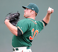 Pitcher Alan Oaks (30) of the Greensboro Grasshoppers prior to a game against the Greenville Drive on April 25, 2011, at Fluor Field at the West End in Greenville, S.C. Oaks was an eightth-round pick by the Florida Marlins in the 2010 First-Year Player Draft. Photo by Tom Priddy / Four Seam Images
