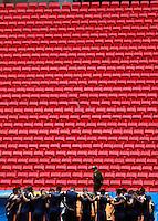 BRASILIA - BRASIL -18-06-2014. Foto: Daniel Jayo / Archivolatino<br /> Jugadores de la selección de fútbol de Colombia durante su entrenamiento, hoy 18 de junio de 2014, en el estadio Mané Garrincha de Brasilia previo al partido del Grupo C ante Costa de Marfil por la Copa Mundial de la FIFA Brasil 2014. El encuentro se jugará el 19 de junio de 2014./ Players of Colombia National Soccer Team during the training, today June 18 2014, at Mané Garricha satdium in Brasilia prior of the Group C match against Ivory Coast as part of the 2014 FIFA World Cup Brazil. The match will be held on June 19 2014. Photo: Daniel Jayo / Archivolatino<br /> VizzorImage PROVIDES THE ACCESS TO THIS PHOTOGRAPH ONLY AS A PRESS AND EDITORIAL SERVICE IN COLOMBIA AND NOT IS THE OWNER OF COPYRIGHT; ANOTHER USE IS REPONSABILITY OF THE END USER. NO SALES, NO MERCHANDASING. ALL COPYRIGHT IS ARCHIVOLATINO