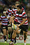 Cardiff Vaega. The game of Three Halves, a pre-season warm-up game between the Counties Manukau Steelers, Northland and the All Blacks, played at ECOLight Stadium, Pukekohe, on Friday August 12th 2016. Photo by Richard Spranger.