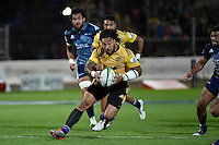 Ma'a Nonu in action during the Super Rugby - Hurricanes v Blues at FMG Stadium, Palmerston North, New Zealand on Friday 13 March 2015. <br /> Photo by Masanori Udagawa. <br /> www.photowellington.photoshelter.com.