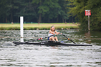 Race: 24  W.MasF.1x  Quarter-Final<br /> 335  Weybridge Rowing Club (Nisbett)<br /> 337  Henley Rowing Club (Mehers)<br /> <br /> Henley Masters Regatta 2018 - Friday<br /> <br /> To purchase this photo, or to see pricing information for Prints and Downloads, click the blue 'Add to Cart' button at the top-right of the page.