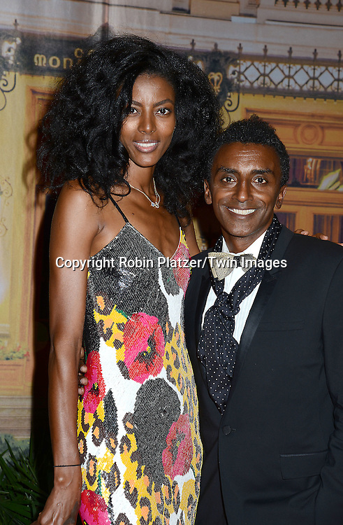 Maya Haile and Marcus Samuelsson attend the New Yorkers for Children's Fall Gala on September 16, 2015 at Cipriani 42nd Street in New York City, New York, USA.<br /> <br /> photo by Robin Platzer/Twin Images<br />  <br /> phone number 212-935-0770