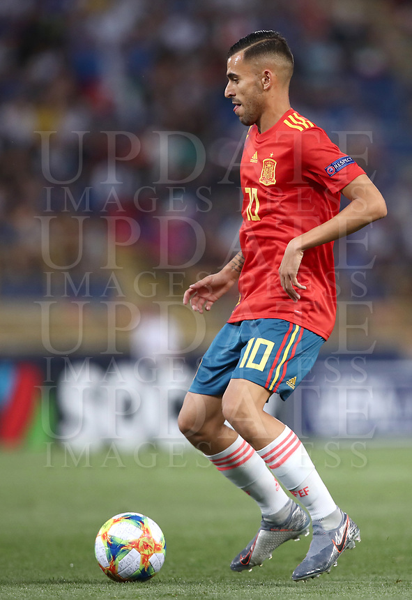 Football: Uefa European under 21Championship 2019 Italy - Spain Renato Dall'Ara stadium Bologna Italy on June16, 2019.<br /> Spain's Dani Ceballos is going to score during the Uefa European under 21Championship 2019 football match between Italy and Spain at Renato Dall'Ara stadium in Bologna, Italy on June16, 2019.<br /> UPDATE IMAGES PRESS/Isabella Bonotto