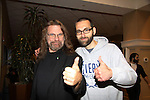 Hacksaw Jim Duggan & Mark Drexler at Chiller Theatre - Toy, Model and Film Expo was held over the weekend - October 27, 2013 at the Sheraton Hotel, Parsippany, New Jersey - (Photo by Sue Coflin/Max Photos)