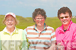Rose Molyneaux, Listowel, Eoleen Kenny-Ryan, ball bunion and Mary Sheehy, Tralee tokk part in the Ladies Presidents golf competition in Ballybunion on Sunday.