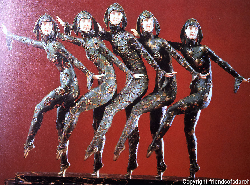'Les Girls' Inspired by 'Russian seasons' ballet sculpture by Demetre Chiparus. Photo Sept. 1989