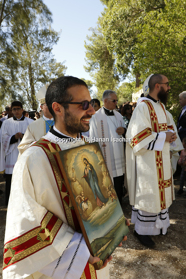Israel, Shephelah, Feast of Our Lady of Palestine at Deir Rafat Monastery