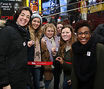 Barrett Wilbert Weed and TyNia Brandon Along with Actors' Equity members talk to Broadway audiences about why they are fighting for a better development contract with the Broadway League after the Union announced Monday a strike for all development work with the Broadway League. TKTS Booth, Duffy Square Neil January 8, 2019 in New York City.