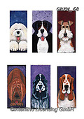 Kate, CUTE ANIMALS, LUSTIGE TIERE, ANIMALITOS DIVERTIDOS, paintings+++++Cats & dogs page 14,GBKM68,#ac#, EVERYDAY ,dogs,dog ,puzzle,puzzles
