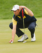 The University of Michigan men's golf team finished in tenth place at the Big Ten Championship at the Pete Dye Course (French Lick Resort) in French Lick, Ind., on April 28, 2013.