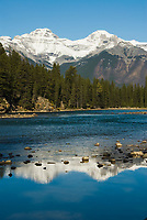 The Bow River runs through Banff National Park, Alberta, Canada