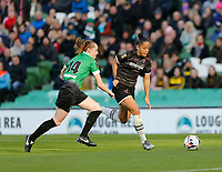 3rd November 2019; Aviva Stadium, Dublin, Leinster, Ireland; FAI Cup Womens Final Football, Peamount United versus Wexford Youth Womens Football Club; Rianna Jarrett on an ttacking run for Wexford Youths as Claire Walsh closes in for Peamount United  - Editorial Use