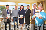 At the Launch of 'Memories - Celebrating South Kerry Life' in The Ring of Kerry Hotel on Sunday night last were l-r; Noel Spilane(CEO South Kerry Development Partnership), Mike Morris(DSP), Una Cosgrave-Hanley(Heritage Officer KCC), Con O'Shea(Coillte), Martin Mitchell(DSP) & Kevin Griffin(SKDP).