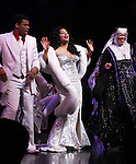 Chester Gregory & Carolee Carmello with Raven-Symone as she takes her first Broadway Bow in 'Sister Act' at the Broadway Theatre in New York City on 3/27/2012