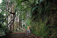 Exploring ilha de Sao Miguel, Açores, 1998.