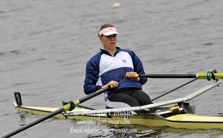 Hazewinkel, BELGIUM,  Anna BEBINGTON, competing in the Monday Finals at the GB Rowing Senior Trails at the Bloso Rowing Centre. Monday 13.04.2009[Mandatory Credit. Peter Spurrier/Intersport Images]