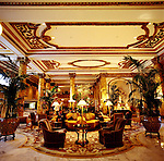 The grand lobby of the Fairmont Hotel in the Nob Hill neighborhood of San Francisco
