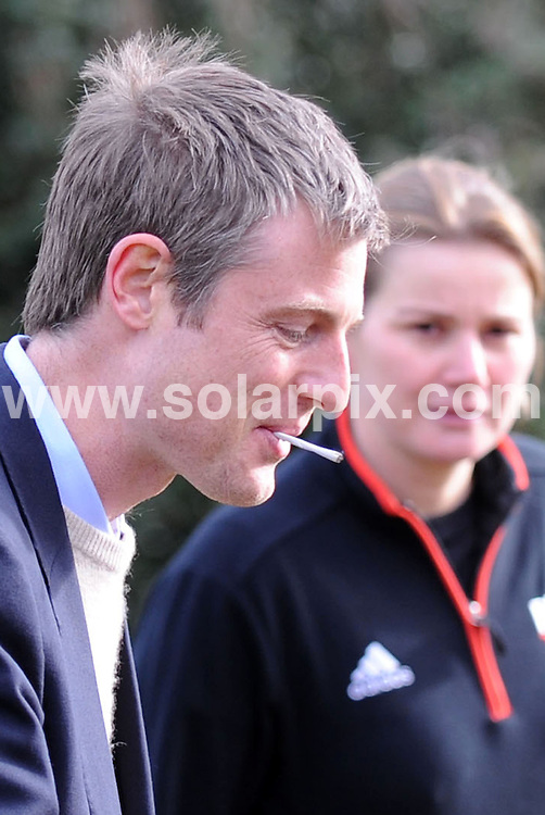 **ALL ROUND PICTURES FROM SOLARPIX.COM**.**NO UK NEWSPAPER PUBLICATION**.**UK MAGAZINE & SUPPLEMENT PUBLICATION ONLY** AND NO PUBLICATION IN AUSTRALIA, FRANCE, GERMANY, ITALY AND SCANDINAVIA** .Girl band the Saturdays launched the Royal Parks half marathon in London this morning. The race will take place on 11/10/09, starts and ends in Hyde Park and runners will race through the four Royal Parks, taking in superb views of Buckingham Palace, the Houses of Parliament, the London Eye, Marble Arch and the Royal Albert Hall. Hyde Park, London, UK. 25 March 2009.This pic:  Zack Goldsmith has a cigarette..JOB REF: 8716 SFE       DATE: 25_03_2009.**MUST CREDIT SOLARPIX.COM OR DOUBLE FEE WILL BE CHARGED**.**ONLINE USAGE FEE GBP 50.00 PER PICTURE - NOTIFICATION OF USAGE TO PHOTO @ SOLARPIX.COM**.**CALL SOLARPIX : +34 952 811 768 or LOW RATE FROM UK 0844 617 7637**