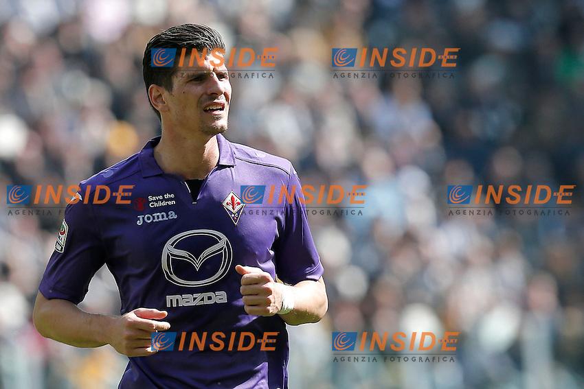 Mario Gomez Fiorentina, Torino 9-3-2014, Juventus Stadium, Football Calcio 2013/2014 Serie A, Juventus - Fiorentina, Foto Marco Bertorello/Insidefoto