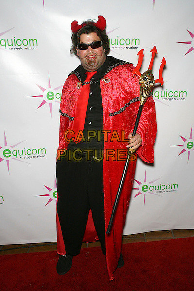 "JASON DAVIS.Halloween Premiere of ""Saw III"" held at a private residence in the Hollywood Hills, Hollywood, California, USA..October 31st, 2006.Ref: ADM/ZL.full length red cape devil mask pitchfork.www.capitalpictures.com.sales@capitalpictures.com.©Zach Lipp/AdMedia/Capital Pictures."