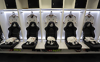 The Swansea changing room before the Barclays Premier League match between Swansea City and Watford at the Liberty Stadium, Swansea on January 18 2016