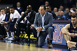 CHARLOTTESVILLE, VA - MARCH 03: Notre Dame head coach Mike Brey. The University of Virginia Cavaliers hosted the University of Notre Dame Fighting Irish on March 3, 2018 at John Paul Jones Arena in Charlottesville, VA in a Division I men's college basketball game. Virginia won the game 62-57.